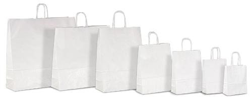 Білий крафт-пакет з паперовими ручками